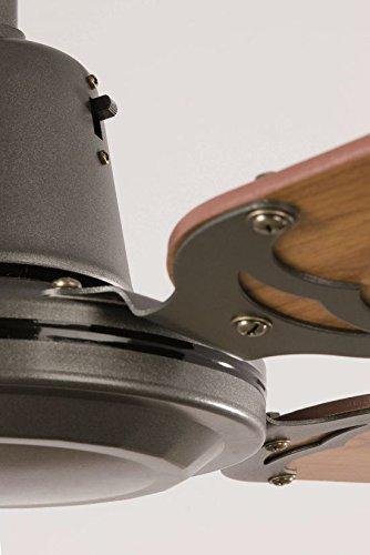 faro 33110 - malvinas ventilatore da soffitto grigio scuro - Soffitto Grigio Scuro