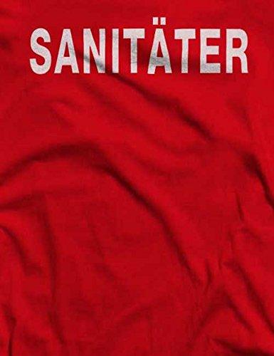 Sanitäter T-Shirt S-XXL 12 Farben / Colours Rot