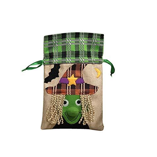 Halloween-Hexe-Taschen-Tasche Trick or Treat Taschen nette Süßigkeit Favor-Beutel des Goody Snacks Taschen für Kinder Mädchen Jungen ()