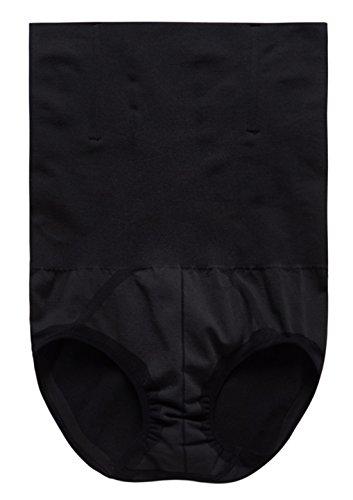 Herren Hohe Taille Figurformend Bauchweg Unterwäsche Funktions Unterhose Body Shaper Underwear Shapewear - Kompression im Bauchbereich M-2XL Schwarz