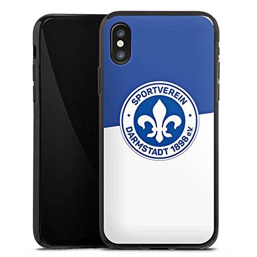Apple iPhone 7 Silikon Hülle Case Schutzhülle Fussball Darmstadt Fußball Silikon Case schwarz