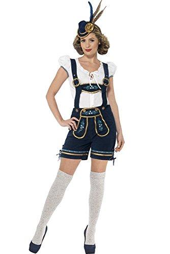 rfest Kostüm Trachten Hemd Lederhose Kurz Hotpants Halloween Maid Cosplay Kostüm, Mehrfarbig, EU S=Tag M (Halloween Lederhosen)