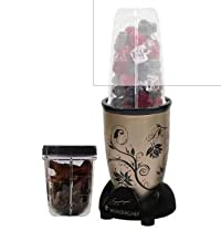 Wonderchef Nutri-blend Champagne with Jar 400 W Mixer Grinder (Champagne, Black, 2 Jars)