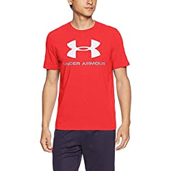 Under Armour Cc Sportstyle Logo Camiseta de Manga Corta, Hombre, Rojo (Red/White), M