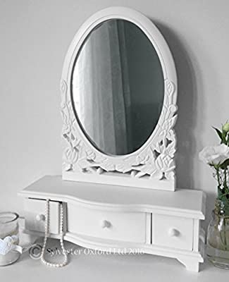 White Dressing Table Mirror with Drawers - low-cost UK dressing table store.