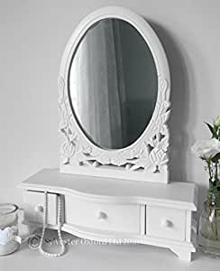Tavolino da toletta con specchio e cassetti colore - Toletta da camera ...