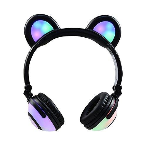 Cuffie bluetooth 4.0 headphones cuffie di fantasia fancy cat cuffie pieghevole over-ear auricolari da gioco per iphone 7 / 6s / ipad, telefono cellulare android 803104 (nero)