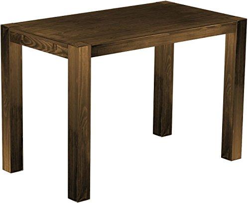 Brasil Meubles Haut Table 'Rio Kanto' 160 x 90 x 109 cm, Pin Parasol Bonito Bois Massif, Teinte chêne Vieilli