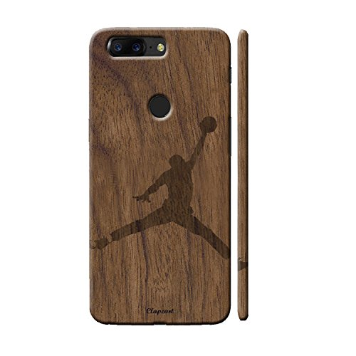 Clapcart OnePlus 5T Designer Printed Back Cover for One Plus 5T / One Plus Five T - Wooden Color (Wooden Player Design Print)