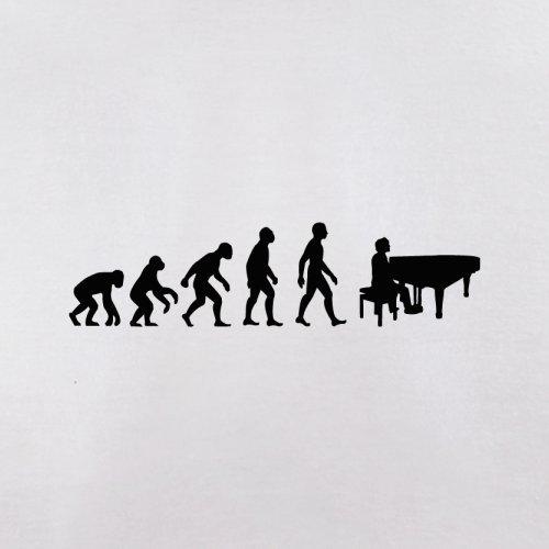 Evolution of Man - Klavier - Herren T-Shirt - 10 Farben Weiß