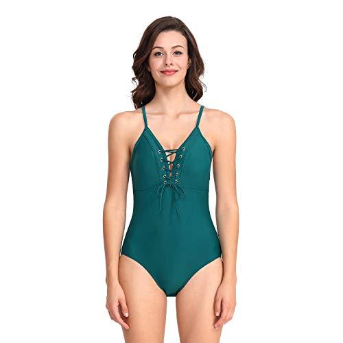 anzug-Badebekleidung trägt Schwimmen-Kostüm-konkurrenzfähige Badebekleidung zur Schau (Color : Olive Green, Size : XXL) ()