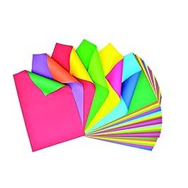 Ci – Fogli Bicolore Duet 30 x 45 cm, Resistenti, Colori Assortiti, 30 pz