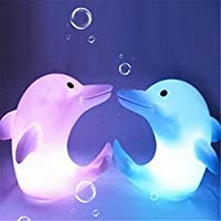 display08 Cute Dolphin Changing Color LED Night Light Kids Room Decor Lamp Gift