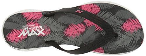 Skechers H2 Goga-Lagoon, Flip Flop Donna Nero (bkpk)