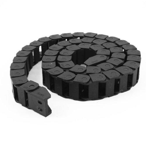 Machine Tool 1mètre 3.3ft long câble en plastique noir chaîne Drag 15mm x 20mm