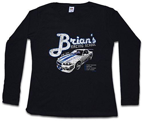 Brian`S Racing School Women Long Sleeve T-Shirt – Paul 2013 Street Racing Walker Nissan Drifting Skyline Sizes XS – 2XL