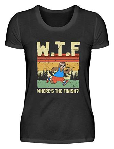 WTF Where's The Finish Sloth Faultier Geschenk - Damenshirt - Wtf Party Kostüm