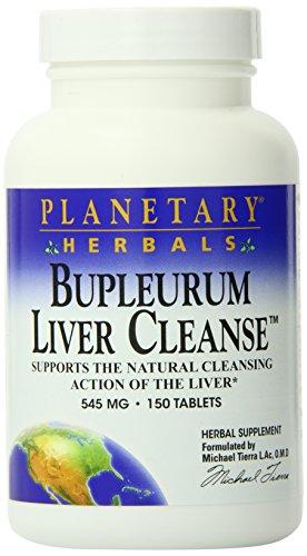 Planetary Herbals, Le Foie de Buplerum Nettoient ( Liver Cleanse) 530mg x150tabs avec La Racine de Pissenlit, Chardon de Lait