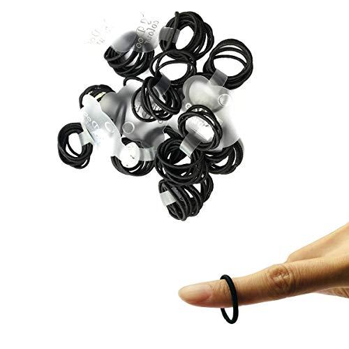 Zcoins 100pcs neri fasce per capelli molto sottili per porta capelli sottili a coda di cavallo per fasce per capelli appena nati