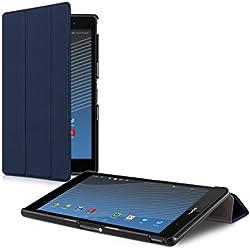 kwmobile Étui Compatible avec Sony Xperia Tablet Z3 Compact - Étui à Rabat Magnétique Protection Slim avec Fonction Support - bleu foncé