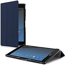 kwmobile Funda para Sony Xperia Tablet Z3 Compact - Smart Cover de cuero sintético para tablet - Case ultra delgada para tableta en azul oscuro