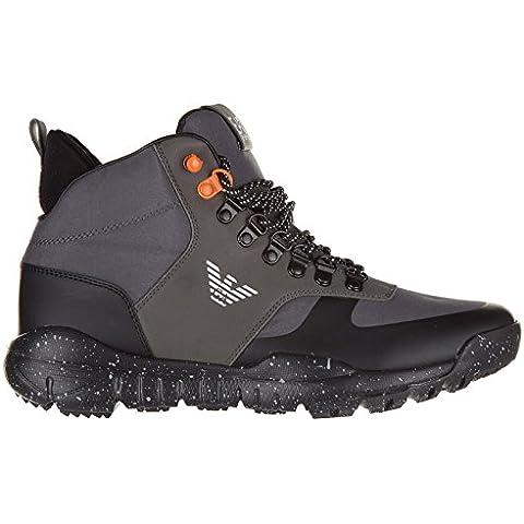Emporio Armani EA7 zapatos zapatillas de deporte largas hombres nuevo negro