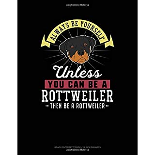 Always Be Yourself Unless You Can Be A Rottweiler Then Be A Rottweiler: Graph Paper Notebook - 1/2 Inch Squares
