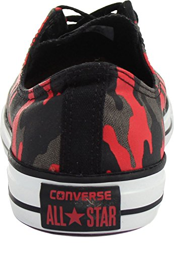 Converse CT Ox Black Red Womens Trainers - 146813F Black/Red