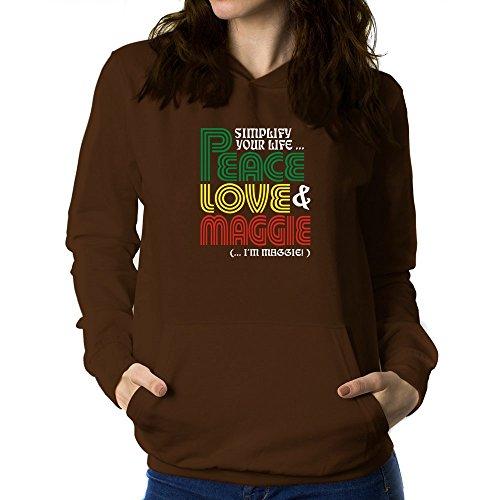 Teeburon Simplify Your Life Peace, Love Maggie (I'M Maggie) Women Hoodie
