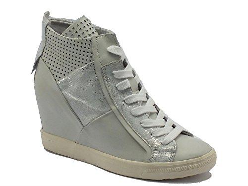 Sneakers CafèNoir per donna in pelle ghiaccio Ghiaccio