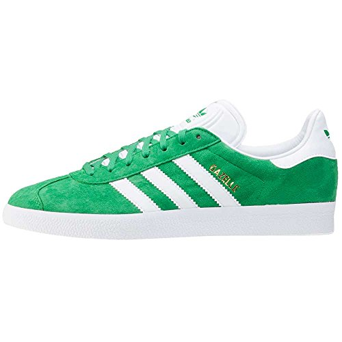 adidas Herren Gazelle Low-Top green-white-gold metallic (BB5477)