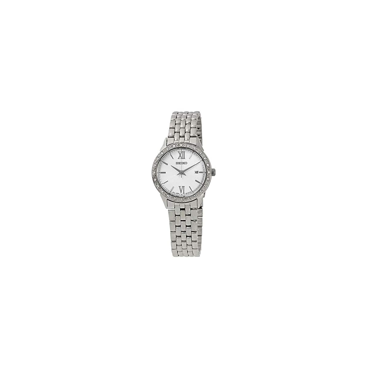 41NznzWFLpL. SS1200  - Seiko Reloj Analógico para Mujer de Cuarzo con Correa en Acero Inoxidable SUR695P1