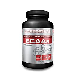 Warriorslab Vegan Bcaa – 120 Tablets, Best Bcaa Tablets, Bcaa Tablets High Strength, 3 Aminos Plus Vitamin B6. Branched Chain Amino Acids Muscle Building Tablets. Bcaa Tablets Vegan. Helps Fat Burn & Loss Weight