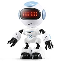Electronic remote control robot toy Robot Toys for Kids, JJRC R8 Intelligent Touch Sensing LED Eyes Action Robot Toy with LED Light for Kids Children Remote control robot toy suitable for children and