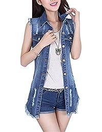 424efea7c2694f Emin Frauen Herbstmode Denim Weste Jacket Damen Mädchen Beiläufig Stilvoll  Gewaschene Jeans Denim Jeansjacke Jacket Jeansweste