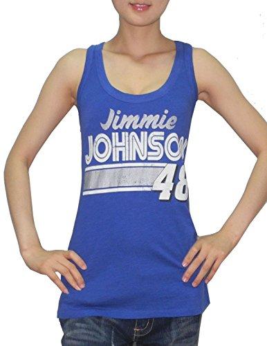 nascar-jimmie-johnson-48-para-mujer-casual-cuello-redondo-t-camiseta-aspecto-vintage-mujer-azul-larg