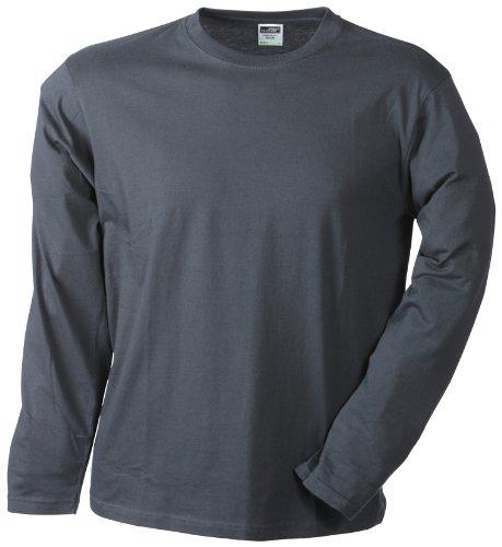 James & Nicholson Herren Langarmshirt Langarmshirt Medium grau (graphite) XXX-Large (Graphit Langarm-shirt)