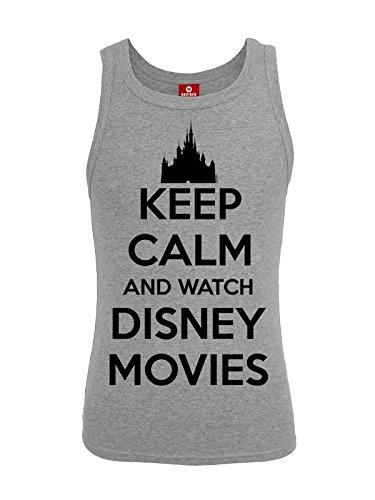 walt-disney-keep-calm-and-watch-disney-movies-girl-top-grau-meliert-xs