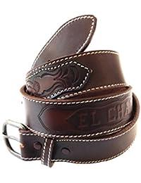 24199ff188 CHARRO Cintura El E304 vintage in cuoio con due borchie grandi e marchio a  fuoco