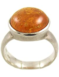 samaki - Anillo piedra Granate Mandarina - plata de ley