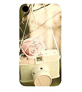 For HTC Desire 830 :: HTC Desire 830 Dual Sim old camera, vintage camera, camera, flower, rose Designer Printed High Quality Smooth Matte Protective Mobile Pouch Back Case Cover by BUZZWORLD