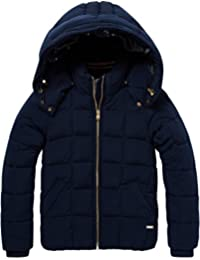 Scotch & Soda Puffer Jacket with Big Square Quilting And Detachable Hood, Giacca Bambina
