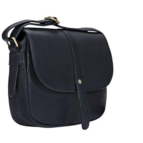 STILORD Kira Borsetta in pelle da donna borsa a tracolla vintage borsa a mano piccola spalla saccoccia di vera pelle, Colore:siena - marrone nero