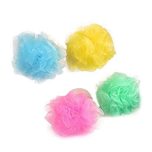 Fliyeong 4 Teile/Satz Bad Schäumen Ball Mesh Shower Puff Körperwäscher Dusche Bad Ball Bad Liefert für Baden Verwenden Zufällige Farbe