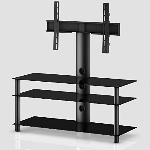 RO&CO - MST3113 NN TV-Möbel mit Halterung 3 Einlegeböden und 110 cm breit. schwarz