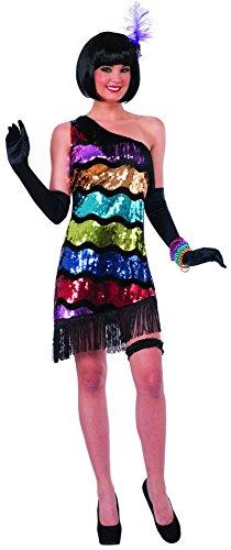 Gangster Gal Kostüm - Swanky Sequins 20's Flapper Gangster Gal Adult Costume Medium/Large