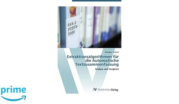 Extraktionsalgorithmen Für Die Automatische Textzusammenfassung