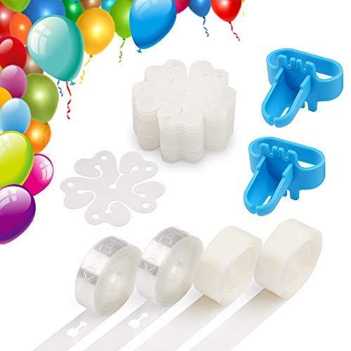 Coogam DIY Ballon Arch Girlande Dekoration Streifen Kit 32Ft Ballon Klebeband Streifen, 200 Punkt Kleber, 20 Blume Clip für Party Hochzeit Geburtstag Weihnachten Jubiläum -