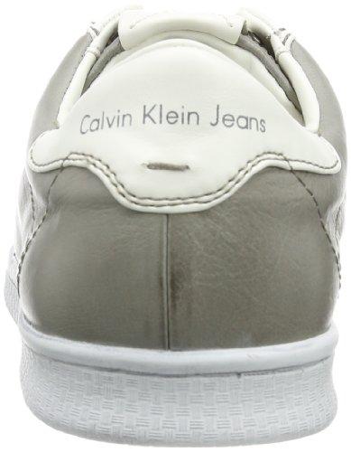 Calvin Klein Hans Shiny Buffalo/Smooth, Scarpe da Barca Uomo Grigio (Grau (SKW))