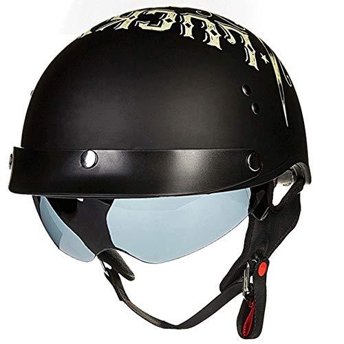 CCtoukui Motorrad Harley Helm. Outdoor Reiten Schutzhalbhelme Männer und Frauen Four Seasons Universal/Sonnencreme /,XL - Motorrad Fußball Helme